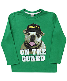 Sela Full Sleeves T-Shirt On The Guard Print - Green
