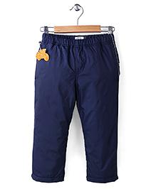 Sela Full Length Polyfill Pant Sportster Print - Navy Blue