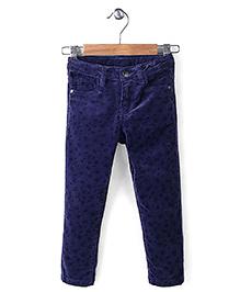 Sela Full Length Pants Floral Print - Blue