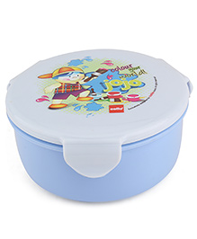 Cello Homeware Polo Lunch Box With Fork Spoon Round - Light Blue