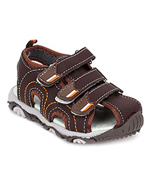 Cute Walk Closed Toe Floater Sandals - Brown
