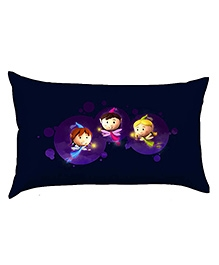 Stybuzz Baby Pillow Cover Three Little Fairies Print - Navy