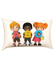 Stybuzz Abc Kids Baby Pillow Cover - White