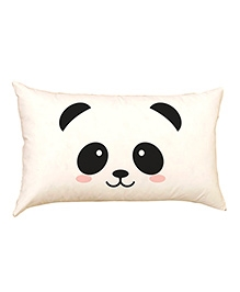Cute Panda Face Baby Pillow Cover - Off White