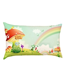Stybuzz Rainbow Land Baby Pillow Cover - Blue