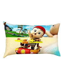 Stybuzz Baby In Toy Car Baby Pillow Cover - Multicolour