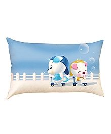 Stybuzz Cute Puppies Baby Pillow Cover - Blue