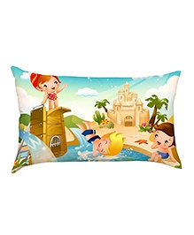 Stybuzz Swimming Kids Baby Pillow Cover - Multicolour