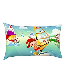 Stybuzz Sailing Kids Baby Pillow Cover - Multicolour