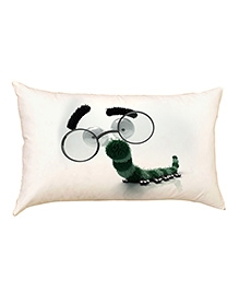 Stybuzz Mr Worm Baby Pillow - White