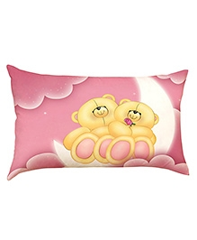 Stybuzz Teddy Bears On Cloud Baby Pillow Cover - Pink