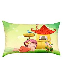 Stybuzz  Child In Grass Baby Pillow Cover - Multicolour