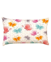 Stybuzz Colorful Butterflies Baby Pillow Cover - Multicolour