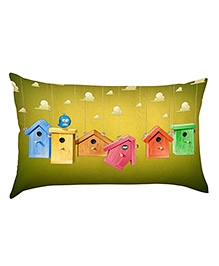 Stybuzz Bird House Baby Pillow Cover - Green