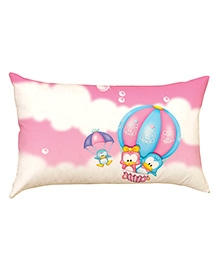 Stybuzz Toons In Parachute Baby Pillow Cover - Pink