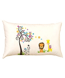 Stybuzz Jungle World Baby Pillow Cover - Cream