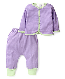Under The Nile Reversible Cardigan And Pant Set - Purple
