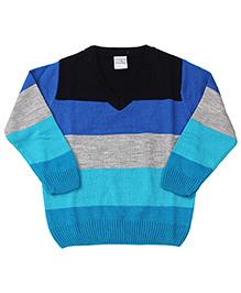 Babyhug Full Sleeves Sweater Stripes Pattern - Blue