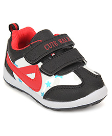 Cute Walk Sports Shoes Velcro Closure - Black And Red