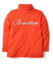 United Colors of Benetton High Neck T-Shirt - Coral