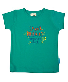 Cheek Pinching Manaa Hai Printed T-shirt - Green