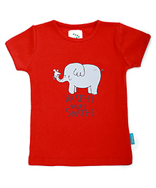 Haathi mere Saathi Printed T-Shirt - Red