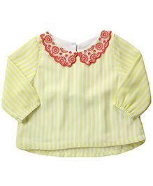 Beebay Full Sleeves Top Stripe Print - Yellow