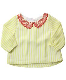 Beebay Full Sleeves Top Stripe Pattern - Yellow