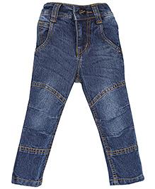 Babyhug Full Length Denim Jeans - Blue