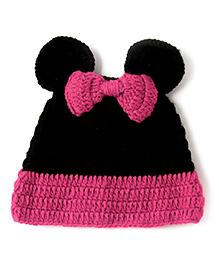 The Original Knit Minnie Mouse Cap - Black