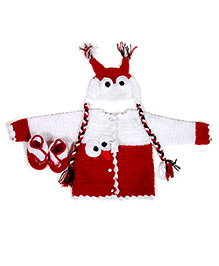 The Orignal Knit Angry Bird sweater set - Red and White