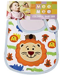Mee Mee Baby Bib Lion Design - Multicolour