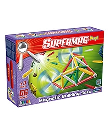 Plastwood Supermag Maxi Classic Rods And Spheres - 66 Pieces