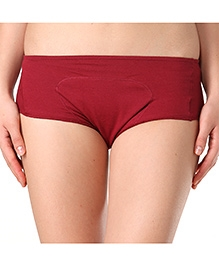 Adira Cotton Period Panty Boxer - Maroon