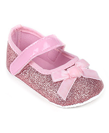 Cute Walk Booties With Bow - Pink