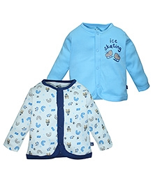 FS Mini Klub Full Sleeves Vests Set Of 2 - Blue And White