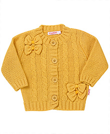 Wingsfield Bow Design Cardigan - Yellow