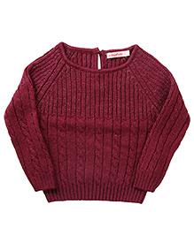 Wingsfield Raglan Sleeves Pullover Sweater - Purple