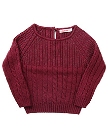 Wingsfield Raglan Sleeves Pullover Sweater - Purple