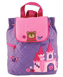 Stephen Joseph Quilted Backpack Purple - Height 13 Inches