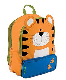 Stephen Joseph Sidekicks Backpack Tiger Orange - Height 12 Inches