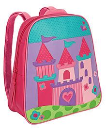 Stephen Joseph Go Go Backpack Castle Pink - Height 13 Inches