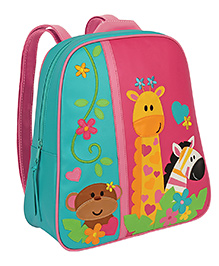 Stephen Joseph Go Go Backpack Zoo Multicolor - Height 13 Inches