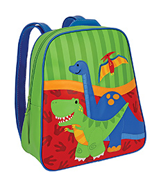 Stephen Joseph Go Go Backpack Dino Green And Blue - Height 13 Inches