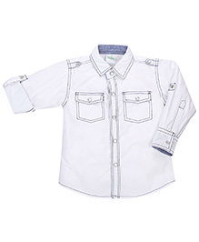 Babyhug Full Sleeves Solid Shirt - Off White