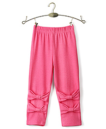 Ikat by Babyhug Solid Color Full Length Legging - Pink