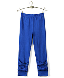 Ikat by Babyhug Solid Color Full Length Legging - Royal Blue
