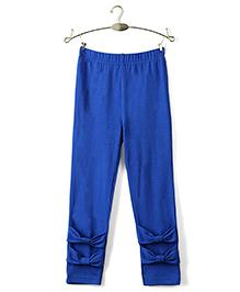 Ikat by Babyhug Solid Color Full Length Legging - Royal Blue