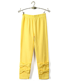Ikat by Babyhug Solid Color Full Length Legging - Yellow