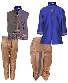 Babyhug Four Pieces Ethnic Wear Set - Blue